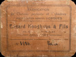 Book label of Edgard Hooghuys and son